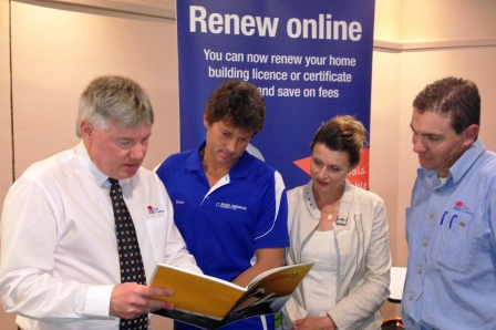 Fair Trading officers at a recent Newcastle Expo with attendees